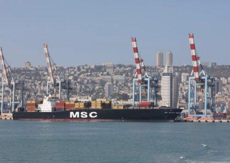 ورود اولین کشتی باری امارات به بندر حیفای اسرائیل