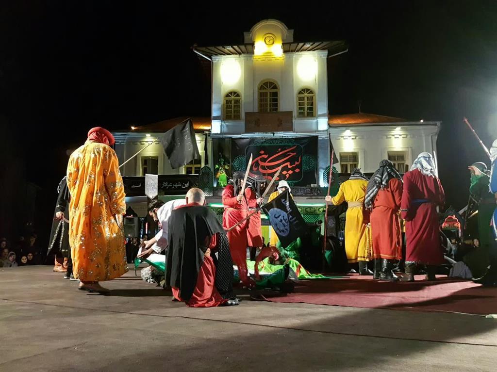 گزارش تصویری مراسم شام غریبان در پیاده راه فرهنگی تاریخی شهرداری رشت