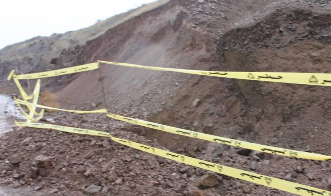 رانش کوه در دیلمان و قطعی گاز ۸ روستا
