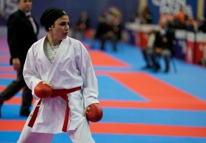 افتخار آفرینی بانوی کاراته کای گیلانی در جهان