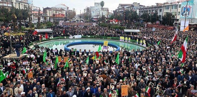 برگزاری راهپیمایی یوم الله ۲۲ بهمن در ۵۸ نقطه گیلان