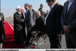 گزارش تصویری ورود دکتر روحانی به رشت