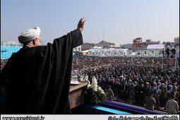 گزارش تصویری سخنرانی رئیس جمهور در جمع مردم لاهیجان