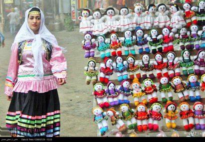 عروسک های گیلانی در آغوش کودکان ایرانی
