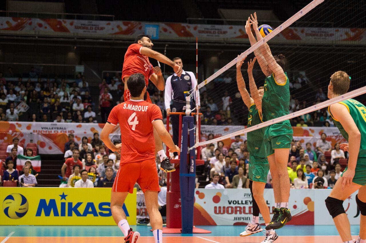 تیم ملی والیبال ایران ۳ – استرالیا صفر