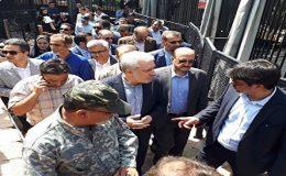 حمله ناگهانی شیر در بازدید معاون رییس جمهور از دهکده طبیعت قزوین+ تصاویر