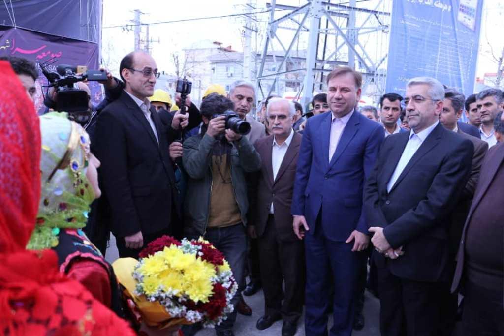 افتتاح و آغاز عملیات اجرایی ۳۱ طرح در جریان سفر وزیر نیرو به گیلان+عکس