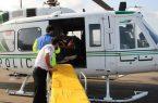 نجات جان جوان ۲۲ ساله توسط اورژانس هوایی گیلان