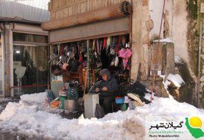 گزارش تصویری  بخشی از مشکلات و یک روز برفی در رشت