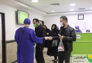 گزارش تصویری توزیع ماسک ومحلول ضدعفونی کننده رایگان در مسکن مهر رشت توسط کمپین نجات شهر