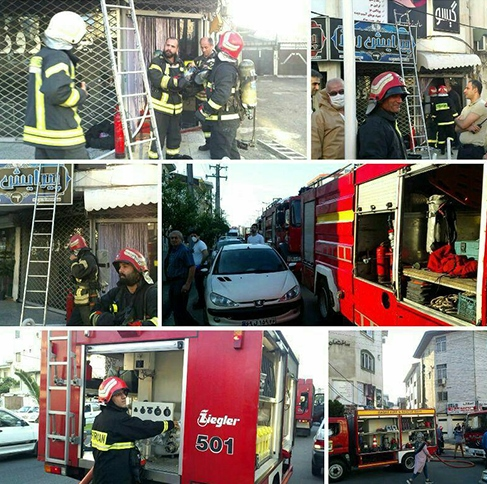آتش سوزی یک آرایشگاه در رشت