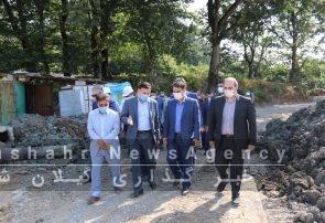 گزارش تصویری از بازدید شهردار و فرماندار از محل نصب زباله سوز