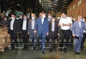 گزارش تصویری از بهره برداری همزمان از هشت واحد تولیدی با حضور سرپرست وزارت صمت و استاندار گیلان