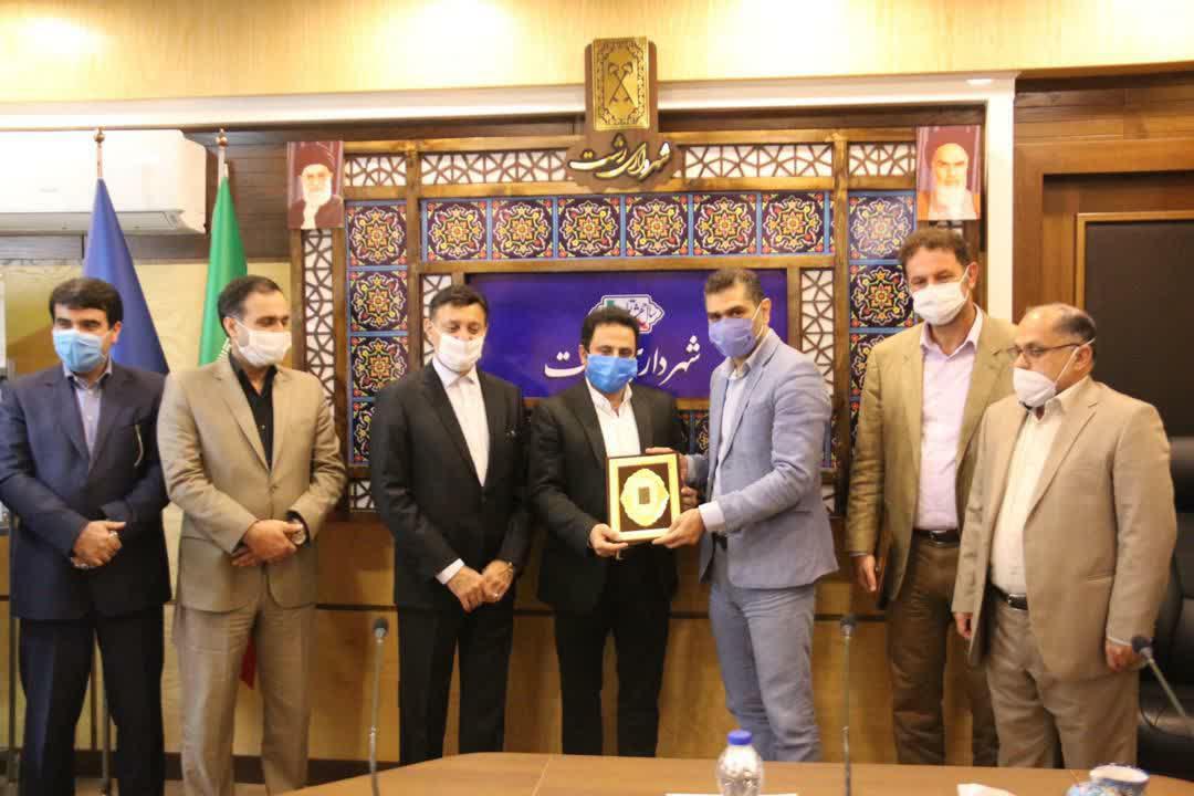 گزارش تصویری از  آیین معارفه مدیران جدید شهرداری رشت