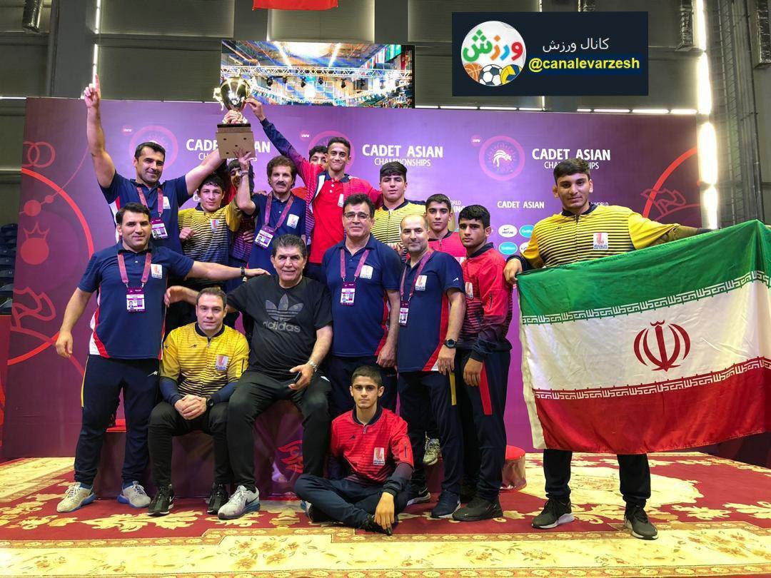 ایران قهرمان مسابقات کشتی فرنگی آسیا
