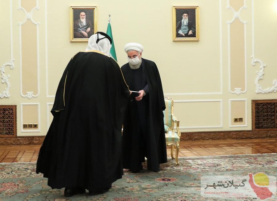 پیام کتبی امیر قطر به روحانی