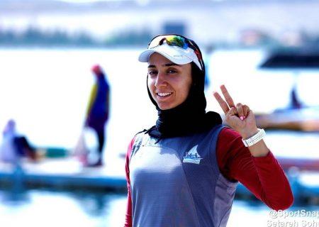 مدال نقره بانوی قایقران گیلانی در رقابت های کسب سهمیه المپیک توکیو