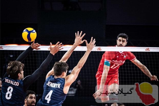 لیگ ملتهای والیبال؛ زور آمریکا به ایران نرسید